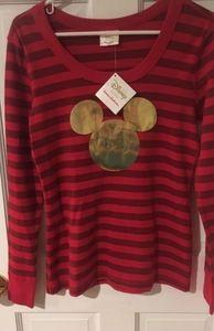 NWT Hanna Andersson Adult Mickey Pajama Shirt